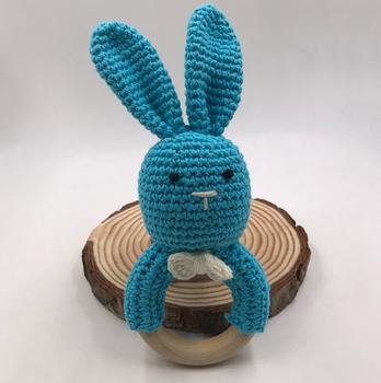 Häkeln Baby Bunny Rassel Baby Kuscheltiere Spielzeug Milch Baumwolle