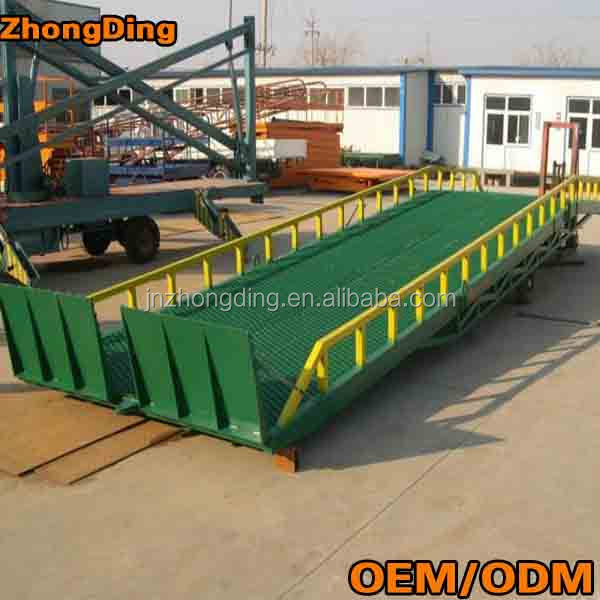 Hot sale portable container ramps/hydraulic electric yard ramps