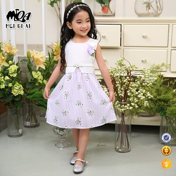 Hot Sale Thailand Baby And Kids Clothes Dress Designs Teenage Girls