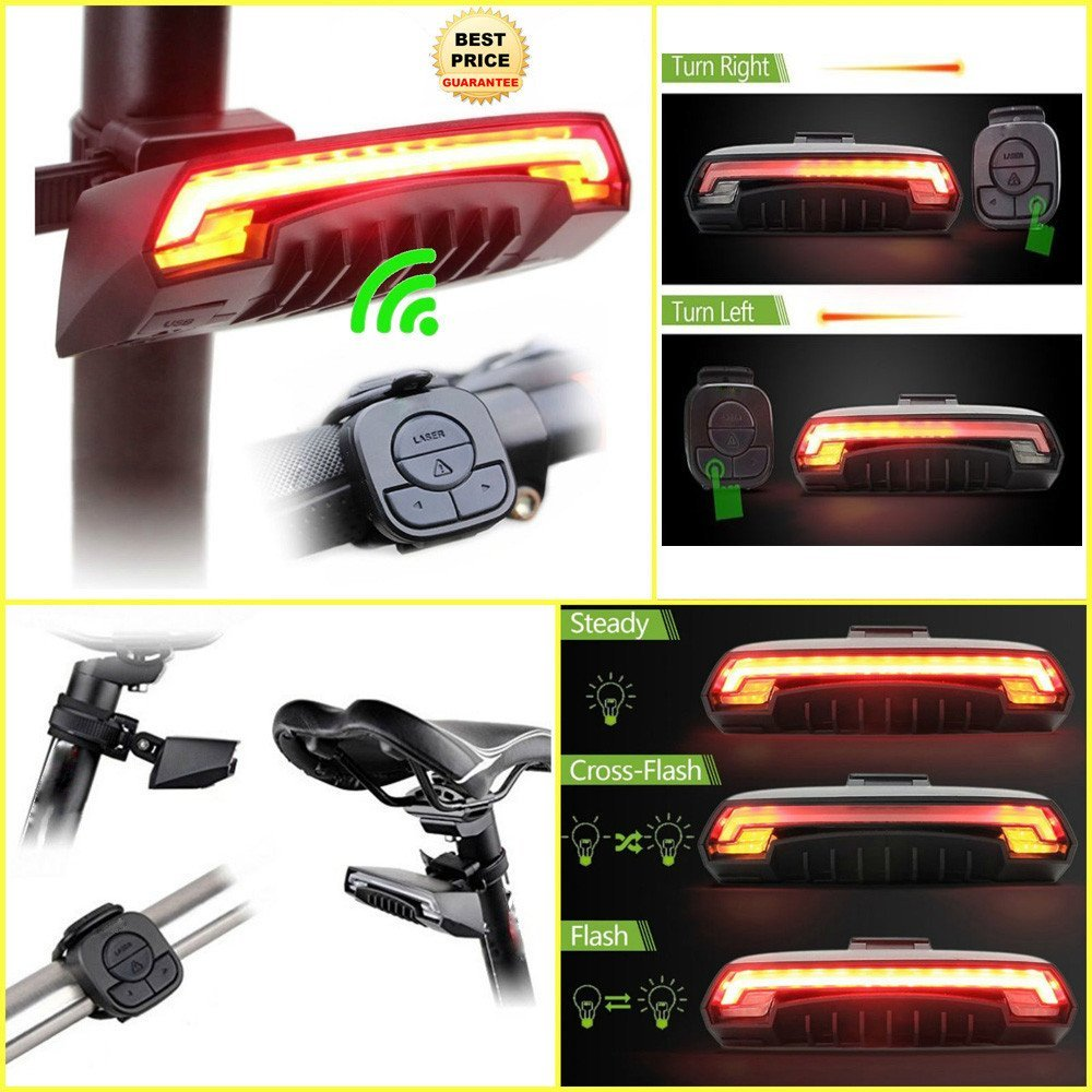 Hot Bicycle Bike Indicator Turn Signal LED Tail Light Wireless Remote Control by Dressffe