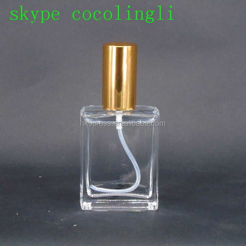 50ml Glass Material Refillable Screw Pump Sprayer for prefume bottle Perfume Industry Use Clear Glass Bottle For Perfume
