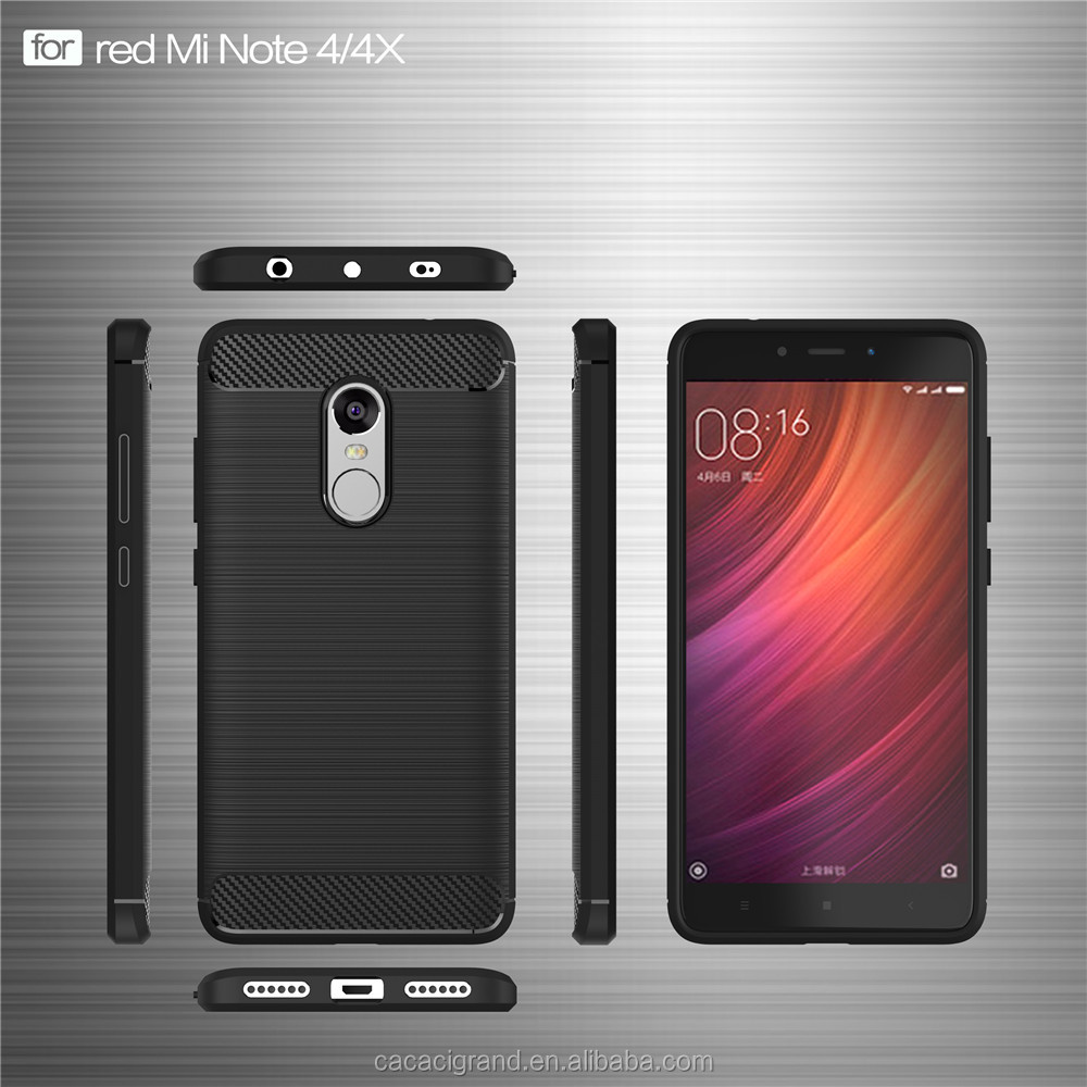 <strong>Hot</strong> For Xiaomi Redmi Note 4x Soft Case TPU Carbon Fiber Phone Case slime cover Back Case For redmi note 4x with wholesale price