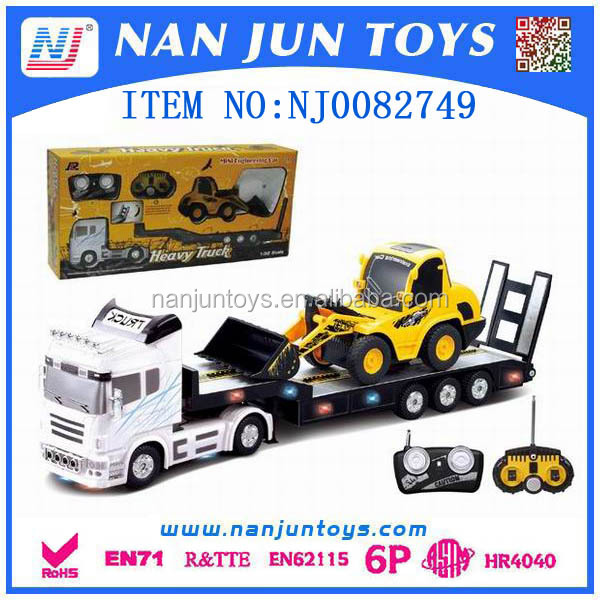 model tow truck 1:32 12 funtion rc tow trucks with construction car