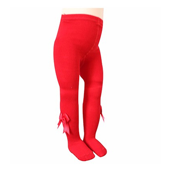 Manufacturer Offer Sample UK & USA Colorful Red Cotton Tights for Baby Girl