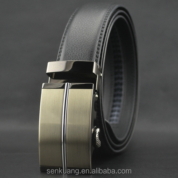 Hot sale mens' <strong>belt</strong> with classic automatic buckle Genuine Leahter <strong>Belts</strong> for man Brand luxury leather strap 140cm longer size