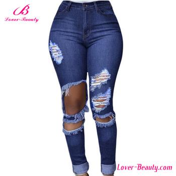 2016 Latest Fashion Ladies Jeans Top Design