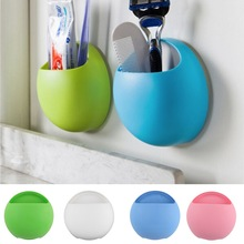 Toothbrush Holder Bathroom Kitchen Family Toothbrush Suction Cups Holder Wall Stand Hook Cups Organizer