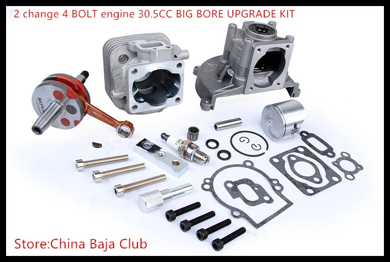 Baja Parts 2 Change 4 Bolt Engine 30 5cc Big Bore Upgrade Kit For 1 5 Hpi Baja 5b 5t Km Kit Upgrade Baja Engineengine Parts Aliexpress
