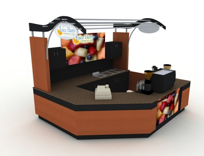 Portable beverage /coffee /juice bar / ice cream shop kiosk counters and furnitures