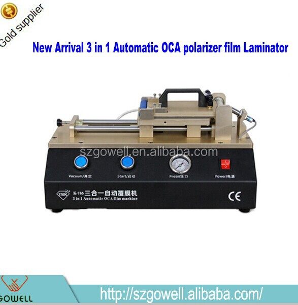 save your time!3 in 1 built-in vacuum air compressor fast oca laminator polarizer film bonding machine for iphone and samsung