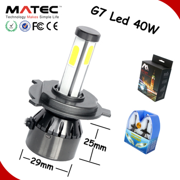 auto parts, G20 G7 Led Car Headlight H1 H3 H7 H11 H4 880 881 9006 9005 Cob Led Headlight, high power led headlight bulb h7