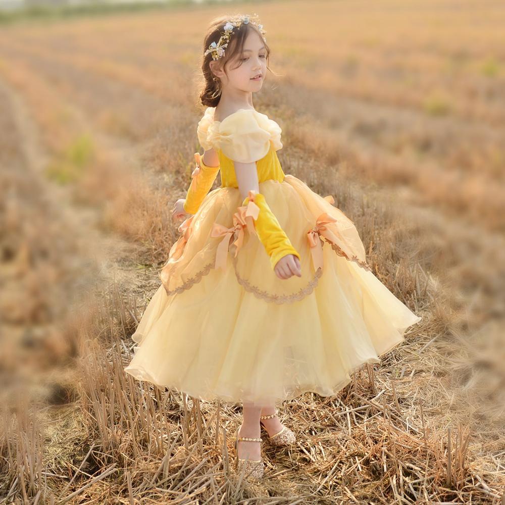 Großhandel blumenmädchen kleid gelb Kaufen Sie die besten ...