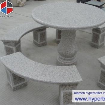 Garten Runde Granit Tisch Und Bank Buy Granit Tisch Und Bank