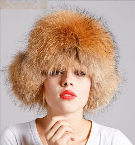 real raccoon dot big fur hat for men or lady