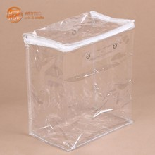 Custom waterproof plastic bag for cosmetic packaging with zipple