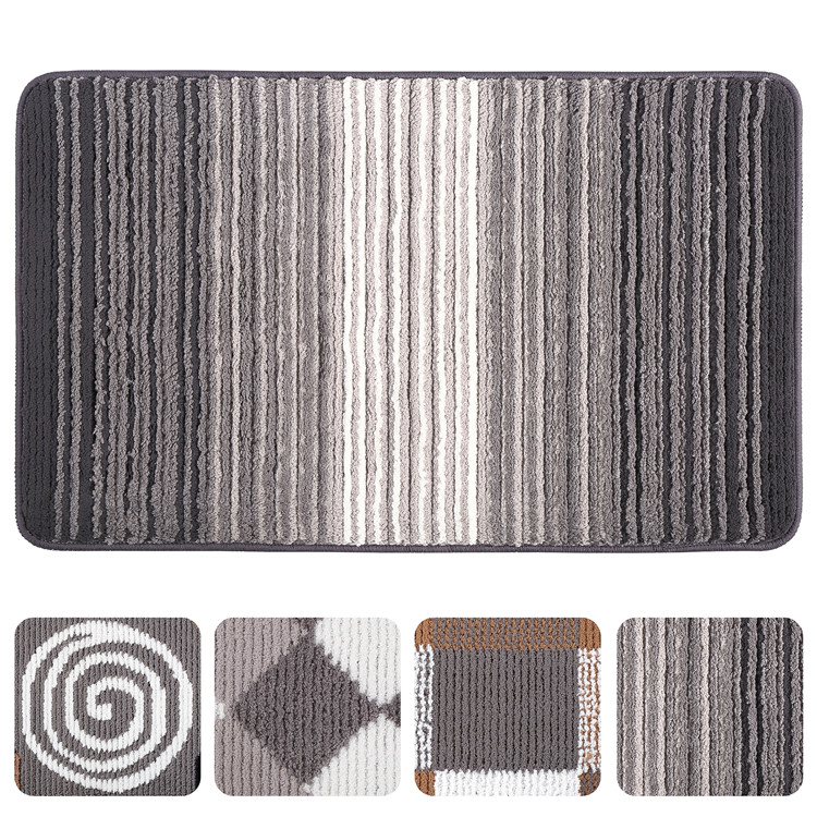 China Factory Custom Fashionable easy clean outdoor washable doormat