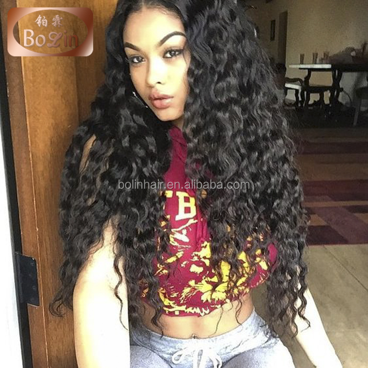 2017 New Design Brazilian Hair Front Lace Wig Virgin Hair Cheap Full Lace Wigs Bleached Knots Wavy Full Lace Wig With Baby Hair