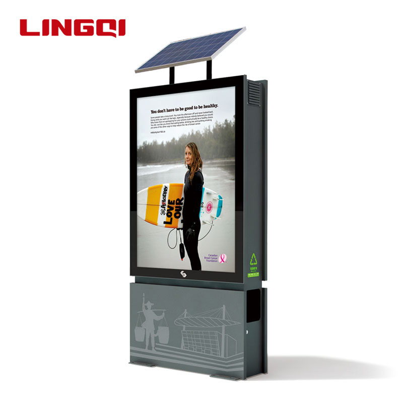 Solar power werbung display licht boxen
