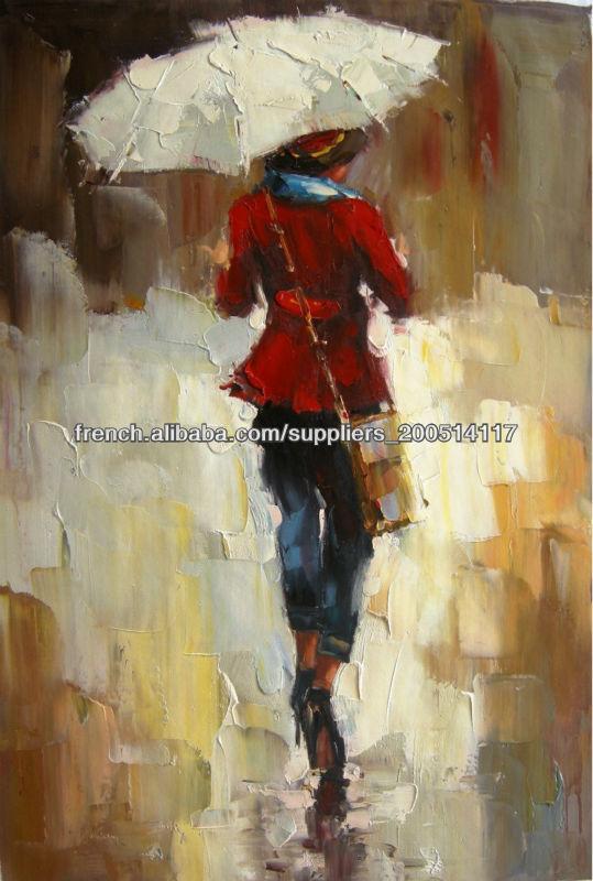Beau Art- Peintures À L'Huile À La Main Peinture À L'Huile Abstraite