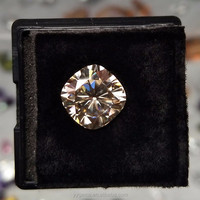 1CT 6.5mm lab created diamonds top graded white champagne round GH color synthetic loose moissanite