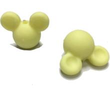 Оптовая продажа, 10 шт./лот, Детские Прорезыватели с Микки-Маусом, силиконовые бусины с мультипликационным рисунком для ожерелья, прорезыват...(Китай)