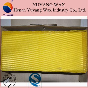 hot sale plastic beeswax foundation sheet with bottom price