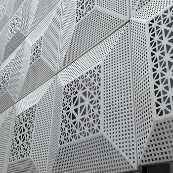 Metal Aluminium Laser Cut Perforated Exterior Wall
