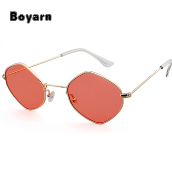 60fb5fbd42 Polygon Shape Sunglasses Women Men Luxury Brand Designer Clear Lens Eyewear  Hexagon Metal Frame Eyewear SunglassesUV400