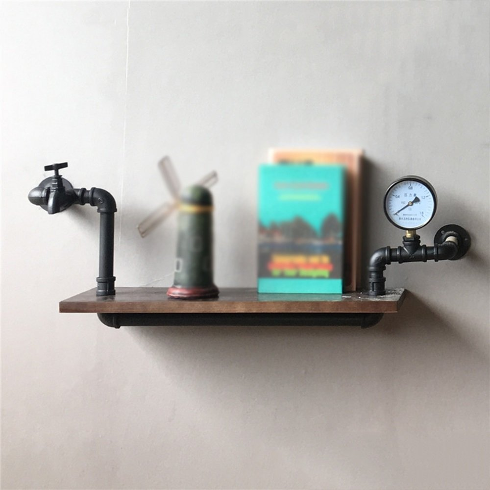 Wall-mounted shelf / wall-mounted shelf / wall-mounted Bathroom shelf / wall-mounted shelf / wall-mounted Bathroom shelf / wall-Bookshelf / solid wood pipe rack /(602028cm)