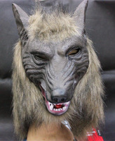 Custom novelty halloween full wolf head mask wholesale