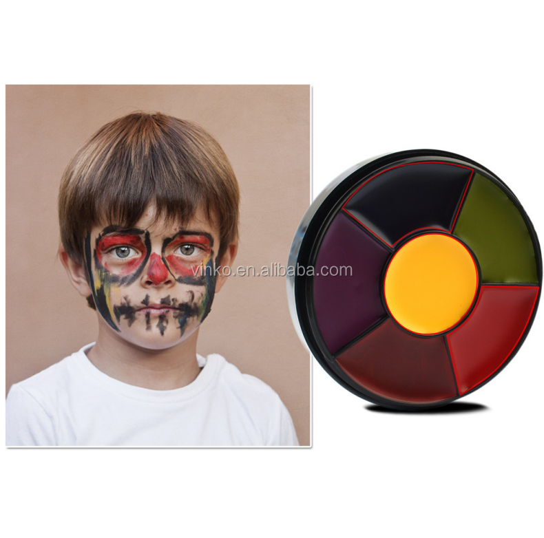Face Painting Supplies Wholesale Body Paint Non-Toxic 6 Colors Uv Face Paint