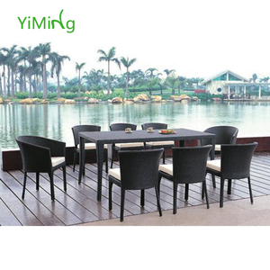 Spring Garden 8 person rattan/wicker Dining Yard PE Rattan Furniture