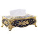 European Gold Metal Tissue Box Alloy Home Car Napkin Paper Holder Zinc Alloy Removable Tissue Box Napkin Box