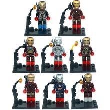 Brand KR 8pcs lot Super Hero Iron Man Superheroes Kid Baby Toy Building Blocks Sets Model