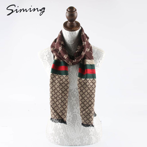 New design fancy style tartan display women scarf for winter