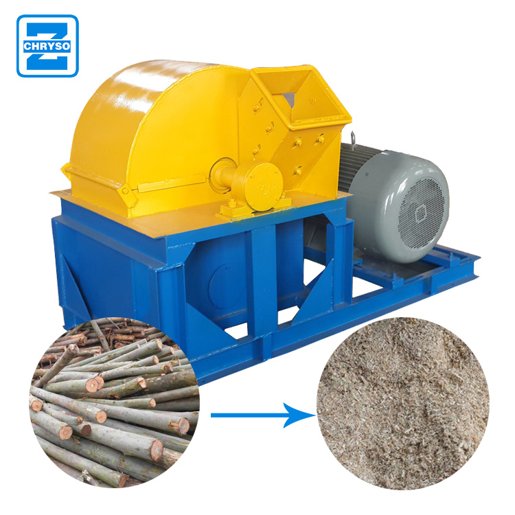 Hot sale crusher machine for waste wood log bark