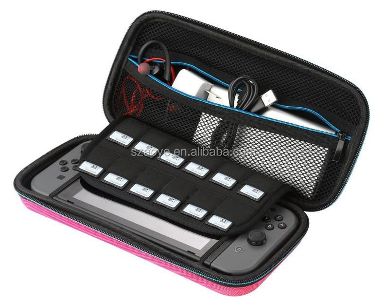 Hard Shell Protective Travel Case for Nintendo switch with 12 Game Card Holders