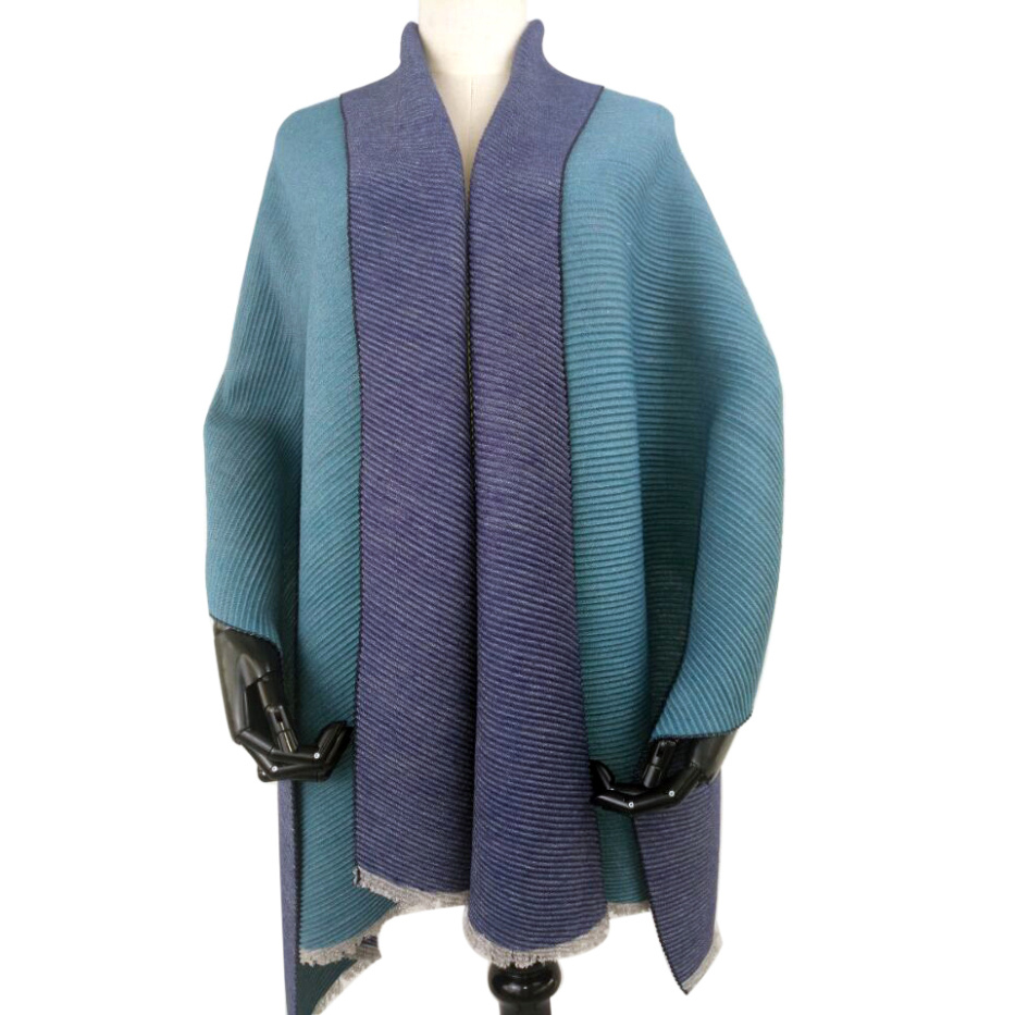High quality colorful ladies winter thick wool plain color shawls
