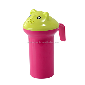 Hot selling plastic baby bath wash cup kids shower cups