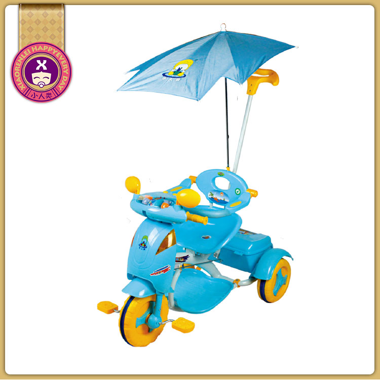 3-In-1 Kid'S Lights And Sounds Plastic Child Tricycle Three Wheeler