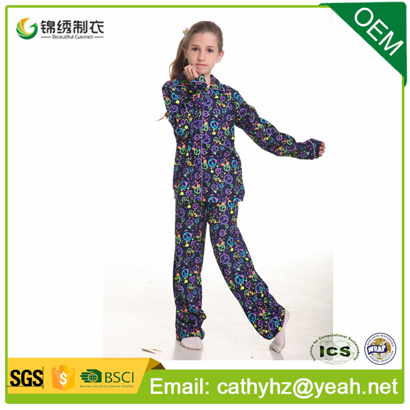 factory wholesale custom kids pyjamas