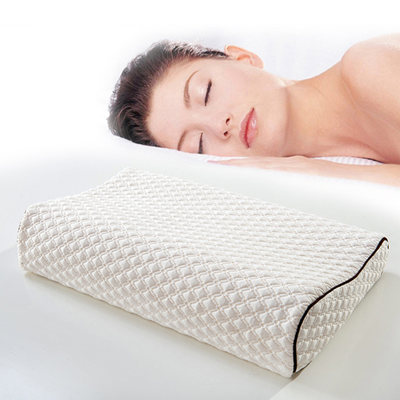 YS-239White relax tense muscles slow recovery washable Memory Foam Pillow