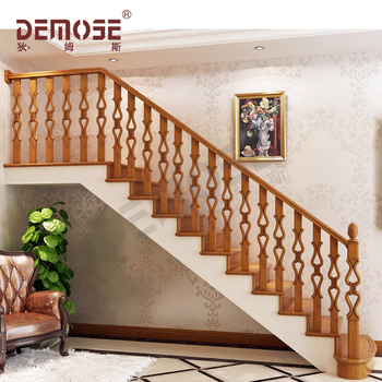 Indoor Round Wood Stair Railings For
