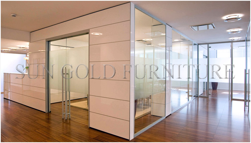 Charming Cheap Room Divider Walls Modern Tempered Clear Office Partition Glass Wall (SZ WS574)
