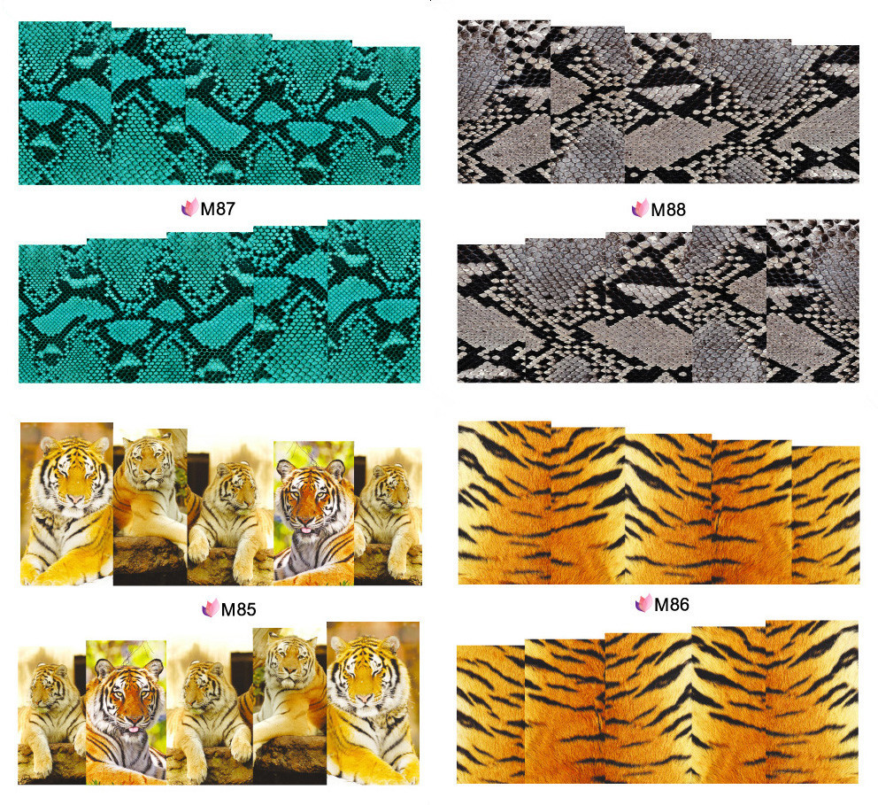 pinpai brand fashional tiger printing water transfer nail art stickers nail decal