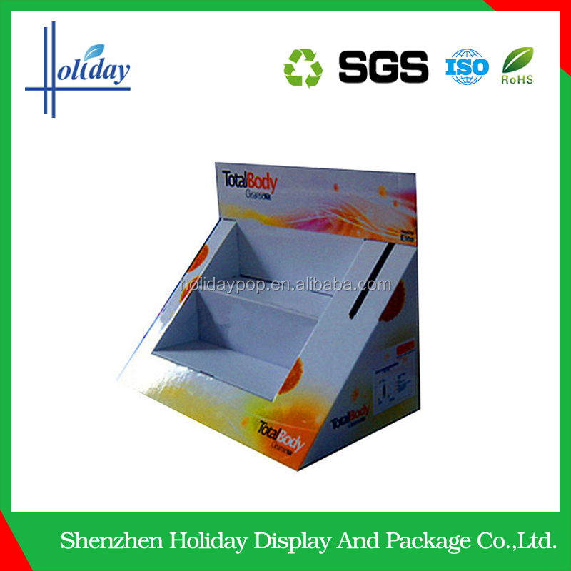 Dump Bin Display New excellent corrugated optical shop counter design