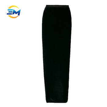 c8e2c0a99a80d3 Laatste lange rok ontwerp 2017 tuniek ingericht velours vrouwen maxi rok  slit terug