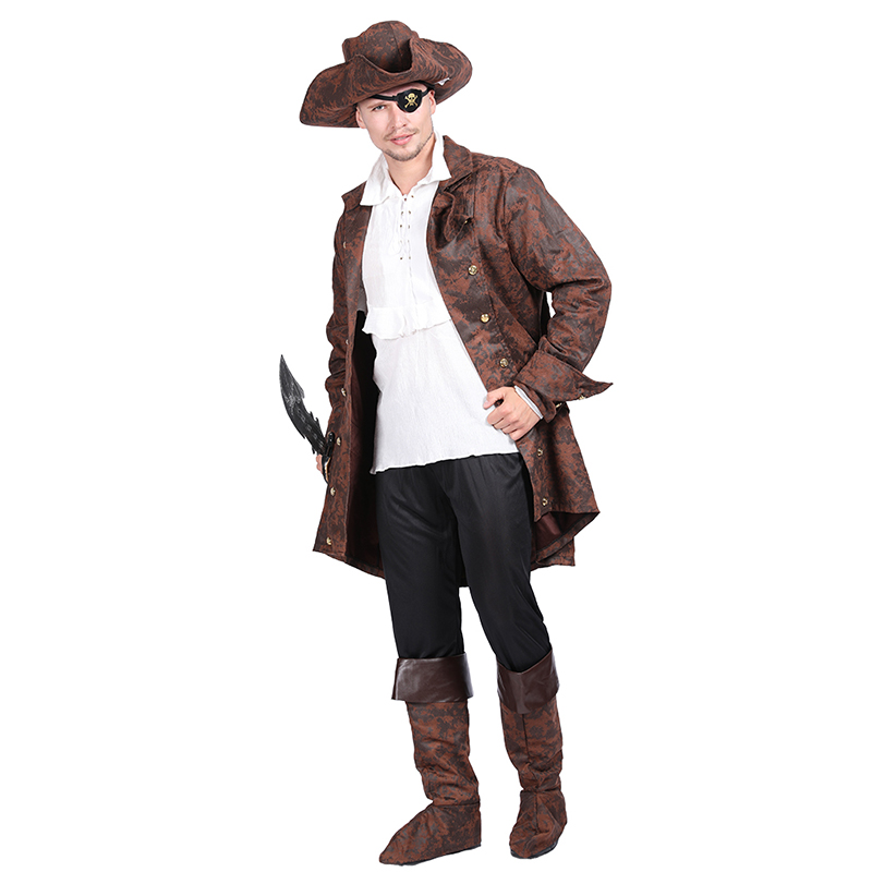 Halloween Costume Adult men Pirate Costume Pirates Of Carribean Costumes role play for cosplay party