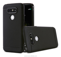 Honeycomb pattern soft TPU cell phone back cover case for LG g6