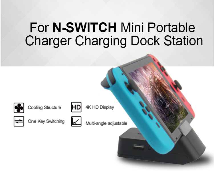 Mini Portable Replacement Dock For Nintendo Switch Dock Cooling Base Portable Video Game Console Charging Dock